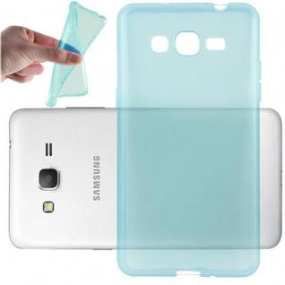 Cadorabo Hülle für Samsung Galaxy GRAND PRIME in TRANSPARENT BLAU - Handyhülle aus flexiblem TPU Silikon - Silikonhülle Schutzhülle Ultra Slim Soft Back Cover Case Bumper