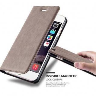Cadorabo Hülle für Apple iPhone 6 / iPhone 6S in KAFFEE BRAUN - Handyhülle mit Magnetverschluss, Standfunktion und Kartenfach - Case Cover Schutzhülle Etui Tasche Book Klapp Style