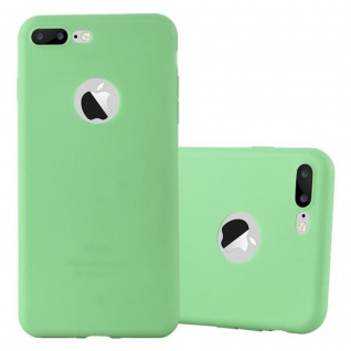 Cadorabo Hülle für Apple iPhone 8 PLUS / 7 PLUS / 7S PLUS in CANDY PASTELL GRÜN Handyhülle aus flexiblem TPU Silikon Silikonhülle Schutzhülle Ultra Slim Soft Back Cover Case Bumper