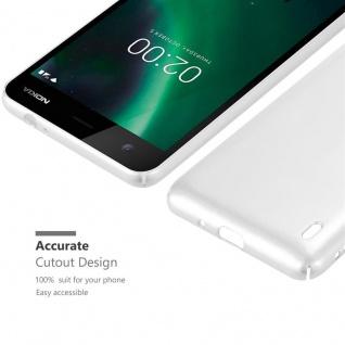 Cadorabo Hülle für Nokia 2 2017 in METALL SILBER ? Hardcase Handyhülle aus Plastik gegen Kratzer und Stöße ? Schutzhülle Bumper Ultra Slim Back Case Hard Cover - Vorschau 5