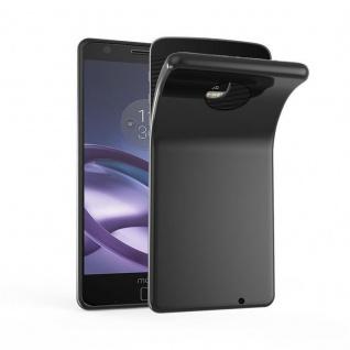 Cadorabo Hülle für Motorola MOTO Z PLAY in OXID SCHWARZ ? Handyhülle aus flexiblem TPU Silikon ? Silikonhülle Schutzhülle Ultra Slim Soft Back Cover Case Bumper