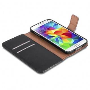 Cadorabo Hülle für Samsung Galaxy S5 / S5 NEO in GRAPHIT SCHWARZ ? Handyhülle mit Magnetverschluss, Standfunktion und Kartenfach ? Case Cover Schutzhülle Etui Tasche Book Klapp Style - Vorschau 4