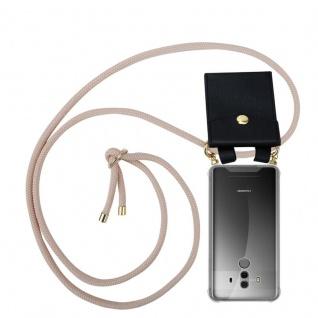 Cadorabo Handy Kette für Huawei MATE 10 PRO in PERLIG ROSÉGOLD - Silikon Necklace Umhänge Hülle mit Gold Ringen, Kordel Band Schnur und abnehmbarem Etui ? Schutzhülle