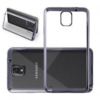 Cadorabo Hülle für Samsung Galaxy NOTE 4 - Hülle in TRANSPARENT mit CHROM SCHWARZ ? Handyhülle aus TPU Silikon im Chrom Design - Silikonhülle Schutzhülle Ultra Slim Soft Back Cover Case Bumper