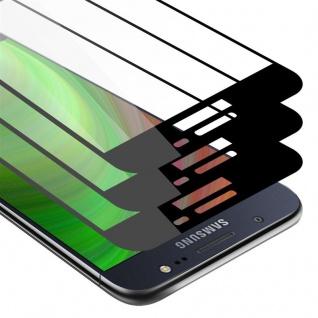 Cadorabo 3x Vollbild Panzer Folie für Samsung Galaxy J5 2016 - Schutzfolie in TRANSPARENT mit SCHWARZ - 3er Pack Gehärtetes (Tempered) Display-Schutzglas in 9H Härte mit 3D Touch