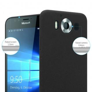 Cadorabo Hülle für Nokia Lumia 950 in FROSTY SCHWARZ - Hardcase Handyhülle aus Plastik gegen Kratzer und Stöße - Schutzhülle Bumper Ultra Slim Back Case Hard Cover - Vorschau 3