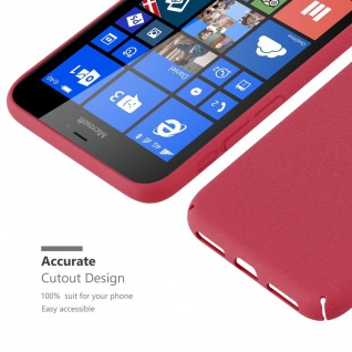 Cadorabo Hülle für Nokia Lumia 640 XL in FROSTY ROT - Hardcase Handyhülle aus Plastik gegen Kratzer und Stöße - Schutzhülle Bumper Ultra Slim Back Case Hard Cover - Vorschau 3