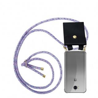 Cadorabo Handy Kette für Huawei Y6 2017 in UNICORN Silikon Necklace Umhänge Hülle mit Gold Ringen, Kordel Band Schnur und abnehmbarem Etui Schutzhülle