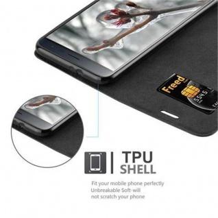 Cadorabo Hülle für Asus ZenFone 3 in NACHT SCHWARZ - Handyhülle mit Magnetverschluss, Standfunktion und Kartenfach - Case Cover Schutzhülle Etui Tasche Book Klapp Style