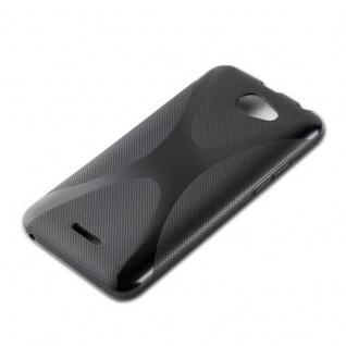 Cadorabo Hülle für HTC Desire 516 in OXID SCHWARZ ? Handyhülle aus flexiblem TPU Silikon ? Silikonhülle Schutzhülle Ultra Slim Soft Back Cover Case Bumper - Vorschau 2