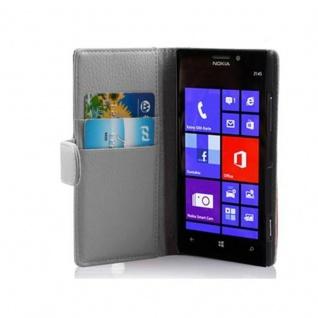 Cadorabo Hülle für Nokia Lumia 925 in MAGNESIUM WEIß ? Handyhülle aus strukturiertem Kunstleder mit Standfunktion und Kartenfach ? Case Cover Schutzhülle Etui Tasche Book Klapp Style