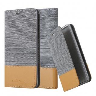 Cadorabo Hülle für Huawei MATE 20 LITE in HELL GRAU BRAUN - Handyhülle mit Magnetverschluss, Standfunktion und Kartenfach - Case Cover Schutzhülle Etui Tasche Book Klapp Style