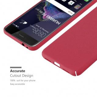 Cadorabo Hülle für Huawei P8 LITE 2017 in FROSTY ROT - Hardcase Handyhülle aus Plastik gegen Kratzer und Stöße - Schutzhülle Bumper Ultra Slim Back Case Hard Cover - Vorschau 5