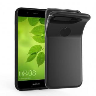 Cadorabo Hülle für Huawei NOVA 2 in SCHWARZ - Handyhülle aus flexiblem TPU Silikon - Silikonhülle Schutzhülle Ultra Slim Soft Back Cover Case Bumper