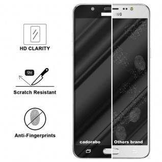 Cadorabo Vollbild Panzer Folie für Samsung Galaxy J7 2016 - Schutzfolie in TRANSPARENT mit SCHWARZ - Gehärtetes (Tempered) Display-Schutzglas in 9H Härte mit 3D Touch Kompatibilität - Vorschau 3