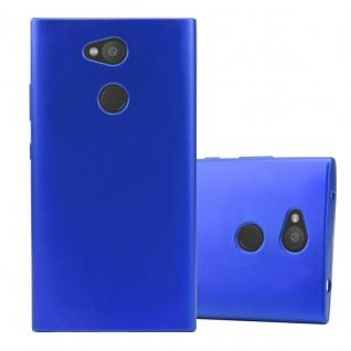 Cadorabo Hülle für Sony Xperia L2 in METALLIC BLAU - Handyhülle aus flexiblem TPU Silikon - Silikonhülle Schutzhülle Ultra Slim Soft Back Cover Case Bumper