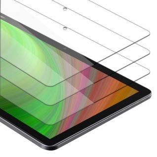 """Cadorabo 3x Panzer Folie für Huawei MediaPad M5 Lite 10 (10.1"""" Zoll) Schutzfolie in KRISTALL KLAR 3er Pack Gehärtetes (Tempered) Display-Schutzglas in 9H Härte mit 3D Touch Kompatibilität"""