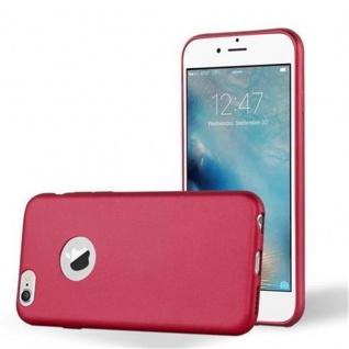 Cadorabo Hülle für Apple iPhone 6 PLUS / iPhone 6S PLUS - Hülle in METALLIC ROT ? Handyhülle aus TPU Silikon im Matt Metallic Design - Ultra Slim Soft Backcover Case Bumper