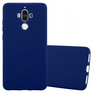 Cadorabo Hülle für Huawei MATE 9 in CANDY DUNKEL BLAU - Handyhülle aus flexiblem TPU Silikon - Silikonhülle Schutzhülle Ultra Slim Soft Back Cover Case Bumper