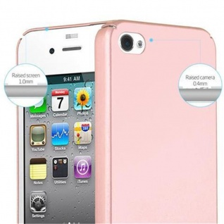 Cadorabo Hülle für Apple iPhone 4 / iPhone 4S in METALL ROSE GOLD - Hardcase Handyhülle aus Plastik gegen Kratzer und Stöße - Schutzhülle Bumper Ultra Slim Back Case Hard Cover - Vorschau 5