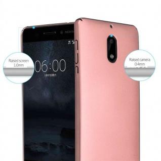 Cadorabo Hülle für Nokia 6 2017 in METALL ROSÉ GOLD - Hardcase Handyhülle aus Plastik gegen Kratzer und Stöße - Schutzhülle Bumper Ultra Slim Back Case Hard Cover - Vorschau 2