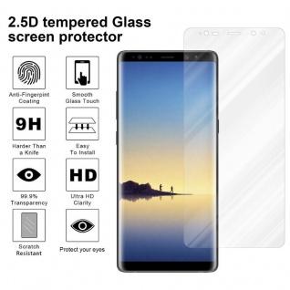 Cadorabo Panzer Folie für Samsung Galaxy NOTE 8 - Schutzfolie in KRISTALL KLAR - Gehärtetes (Tempered) Display-Schutzglas in 9H Härte mit 3D Touch Kompatibilität - Vorschau 4