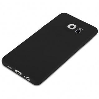 Cadorabo Hülle für Samsung Galaxy S6 EDGE PLUS in CANDY SCHWARZ - Handyhülle aus flexiblem TPU Silikon - Silikonhülle Schutzhülle Ultra Slim Soft Back Cover Case Bumper - Vorschau 4