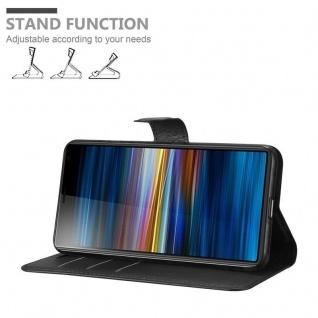 Cadorabo Hülle für Sony Xperia 10 PLUS in PHANTOM SCHWARZ Handyhülle mit Magnetverschluss, Standfunktion und Kartenfach Case Cover Schutzhülle Etui Tasche Book Klapp Style - Vorschau 3