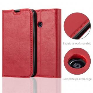 Cadorabo Hülle für Nokia Lumia 530 in APFEL ROT Handyhülle mit Magnetverschluss, Standfunktion und Kartenfach Case Cover Schutzhülle Etui Tasche Book Klapp Style - Vorschau 2