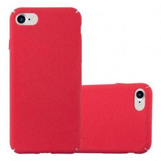 Cadorabo Hülle für Apple iPhone 7 / iPhone 7S / iPhone 8 in FROSTY ROT - Hardcase Handyhülle aus Plastik gegen Kratzer und Stöße - Schutzhülle Bumper Ultra Slim Back Case Hard Cover