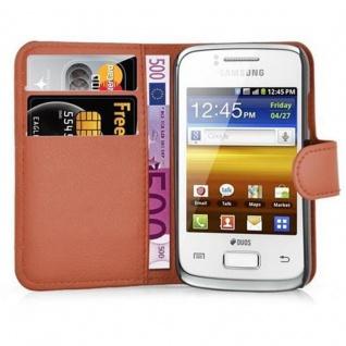 Cadorabo Hülle für Samsung Galaxy YOUNG 2 in SCHOKO BRAUN - Handyhülle mit Magnetverschluss, Standfunktion und Kartenfach - Case Cover Schutzhülle Etui Tasche Book Klapp Style - Vorschau 5