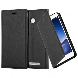 Cadorabo Hülle für Xiaomi Red Mi 3S in NACHT SCHWARZ - Handyhülle mit Magnetverschluss, Standfunktion und Kartenfach - Case Cover Schutzhülle Etui Tasche Book Klapp Style