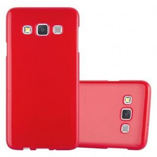 Cadorabo Hülle für Samsung Galaxy A3 2015 in JELLY ROT ? Handyhülle aus flexiblem TPU Silikon ? Silikonhülle Schutzhülle Ultra Slim Soft Back Cover Case Bumper