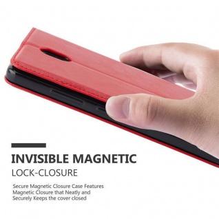 Cadorabo Hülle für Lenovo P2 in APFEL ROT Handyhülle mit Magnetverschluss, Standfunktion und Kartenfach Case Cover Schutzhülle Etui Tasche Book Klapp Style - Vorschau 4
