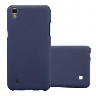 Cadorabo Hülle für LG X Power in FROSTY BLAU Hardcase Handyhülle aus Plastik gegen Kratzer und Stöße Schutzhülle Bumper Ultra Slim Back Case Hard Cover
