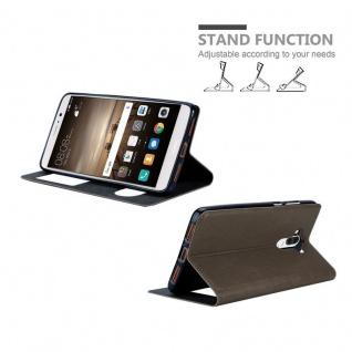 Cadorabo Hülle für Huawei MATE 9 in STEIN BRAUN ? Handyhülle mit Magnetverschluss, Standfunktion und 2 Sichtfenstern ? Case Cover Schutzhülle Etui Tasche Book Klapp Style - Vorschau 4