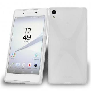 Cadorabo Hülle für Sony Xperia Z5 in HALB TRANSPARENT ? Handyhülle aus flexiblem TPU Silikon ? Silikonhülle Schutzhülle Ultra Slim Soft Back Cover Case Bumper