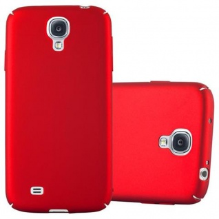 Cadorabo Hülle für Samsung Galaxy S4 in METALL ROT - Hardcase Handyhülle aus Plastik gegen Kratzer und Stöße - Schutzhülle Bumper Ultra Slim Back Case Hard Cover