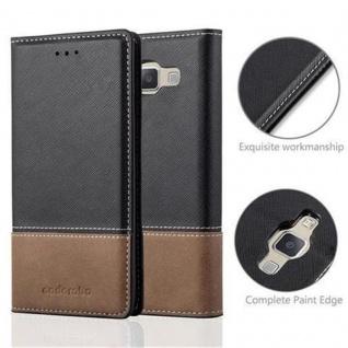 Cadorabo Hülle für Samsung Galaxy A5 2015 in SCHWARZ BRAUN ? Handyhülle mit Magnetverschluss, Standfunktion und Kartenfach ? Case Cover Schutzhülle Etui Tasche Book Klapp Style