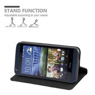 Cadorabo Hülle für HTC DESIRE 626G in NACHT SCHWARZ - Handyhülle mit Magnetverschluss, Standfunktion und Kartenfach - Case Cover Schutzhülle Etui Tasche Book Klapp Style - Vorschau 3