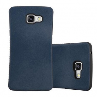 Cadorabo Hülle für Samsung Galaxy A3 2016 (6) - Hülle in MEERES BLAU - Small Waist Handyhülle mit rutschfestem Gummi-Rücken - Hard Case TPU Silikon Schutzhülle