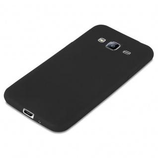 Cadorabo Hülle für Samsung Galaxy J3 2015 in CANDY SCHWARZ - Handyhülle aus flexiblem TPU Silikon - Silikonhülle Schutzhülle Ultra Slim Soft Back Cover Case Bumper - Vorschau 4