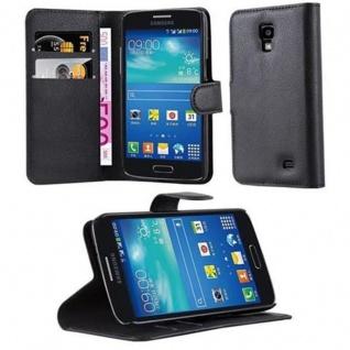 Cadorabo Hülle für Samsung Galaxy CORE 4G in PHANTOM SCHWARZ - Handyhülle mit Magnetverschluss, Standfunktion und Kartenfach - Case Cover Schutzhülle Etui Tasche Book Klapp Style