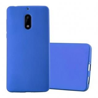 Cadorabo Hülle für Nokia 6 2017 in METALLIC BLAU - Handyhülle aus flexiblem TPU Silikon - Silikonhülle Schutzhülle Ultra Slim Soft Back Cover Case Bumper