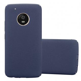 Cadorabo Hülle für Motorola MOTO G5 PLUS in FROSTY BLAU Hardcase Handyhülle aus Plastik gegen Kratzer und Stöße Schutzhülle Bumper Ultra Slim Back Case Hard Cover
