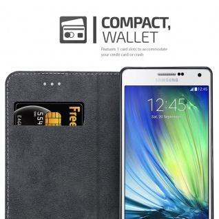 Cadorabo Hülle für Samsung Galaxy A7 2015 in SCHWARZ BRAUN ? Handyhülle mit Magnetverschluss, Standfunktion und Kartenfach ? Case Cover Schutzhülle Etui Tasche Book Klapp Style - Vorschau 3