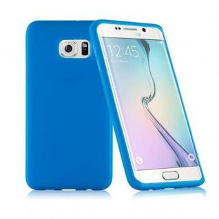 Cadorabo - TPU Silikon Schutzhülle (Full Body Rund-um-Schutz auch für das Display) für Samsung Galaxy S6 EDGE PLUS (SM-G925F) in ALKALI BLAU