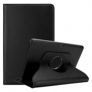 """Cadorabo Tablet Hülle für Samsung Galaxy Tab 4 (10, 1"""" Zoll) SM-T530 / T535 in HOLUNDER SCHWARZ Book Style Schutzhülle OHNE Auto Wake Up mit Standfunktion und Gummiband Verschluss"""