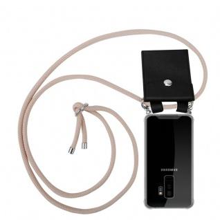 Cadorabo Handy Kette für Samsung Galaxy S9 PLUS in PERLIG ROSÉGOLD - Silikon Necklace Umhänge Hülle mit Silber Ringen, Kordel Band Schnur und abnehmbarem Etui - Schutzhülle