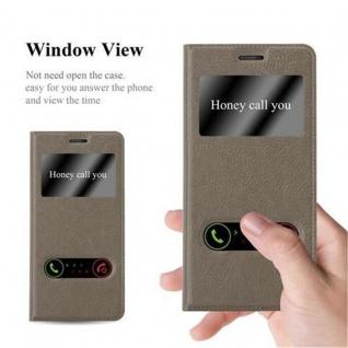 Cadorabo Hülle für Nokia 5 2017 in STEIN BRAUN - Handyhülle mit Magnetverschluss, Standfunktion und 2 Sichtfenstern - Case Cover Schutzhülle Etui Tasche Book Klapp Style - Vorschau 2